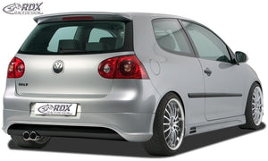 "LK Performance RDX rear bumper extension VW Golf 5 ""R32 clean"" with exhaust hole left"