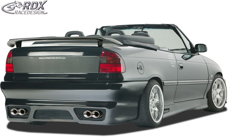 LK Performance RDX rear spoiler OPEL Astra F convertible + sedan - LK Auto Factors