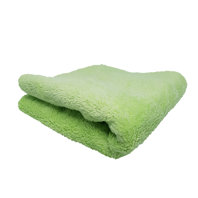 600gsm Plush Microfibre Edgeless Korean Cloth GREEN Ultra Plush - LK Auto Factors