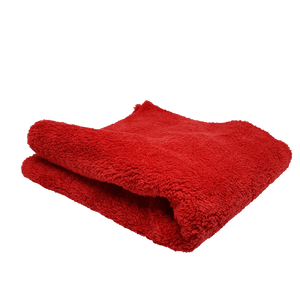 600gsm Plush Microfibre Edgeless Korean Cloth RED Towel - LK Auto Factors