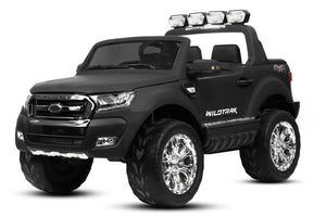 12V Licensed Childrens Ride On Electric Ford Ranger four-wheel 4x 35W Bluetooth 2.4G RC Matt Black - LK Auto Factors