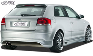 "LK Performance rear bumper extension -2008 ""SingleFrame"" AUDI A3 8P"