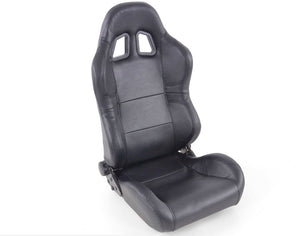 Pair of Ergonomic Performance Sportseat Set Charleston artificial leather black - LK Auto Factors