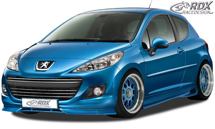 LK Performance RDX Front Spoiler PEUGEOT 207 / 207CC Facelift 2009+ - LK Auto Factors