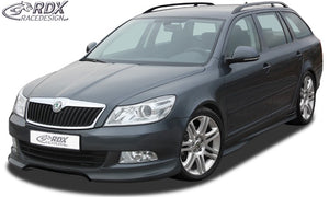 "LK Performance RDX Sideskirts SKODA Octavia 2 / 1Z (incl. Facelift) ""GT4""  Made from ABS plastic, new, unpainted, including installation accessories, aluminium mesh (silver) and instruction, TÜV approval. - LK Auto Factors"