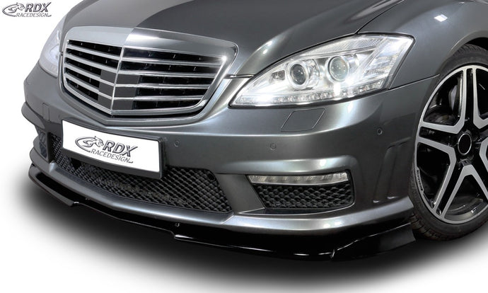 LK Performance RDX Front Spoiler VARIO-X MERCEDES S-class W221 AMG 2009+ (Fit for AMG and Cars with AMG Frontbumper) Front Lip Splitter - LK Auto Factors