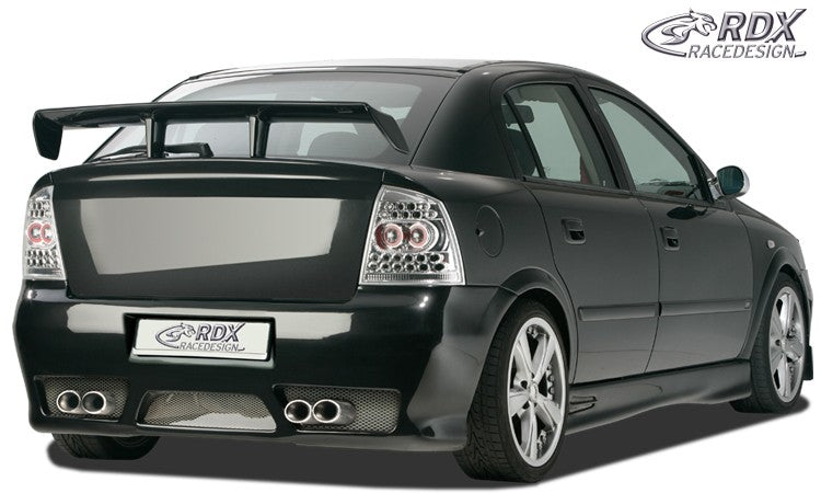 "LK Performance RDX Rear bumper OPEL Astra G with numberplate ""GT-Race"" - LK Auto Factors"