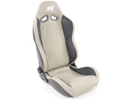 Pair of Ergonomic Performance Sportseat Set Speed Real leather black/grey - LK Auto Factors