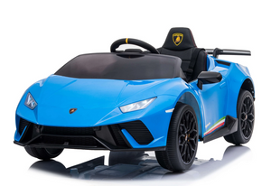 SR308 12V Lamborghini Huracán Licensed Battery Powered Kids Electric Ride On Toy Car (Blue)