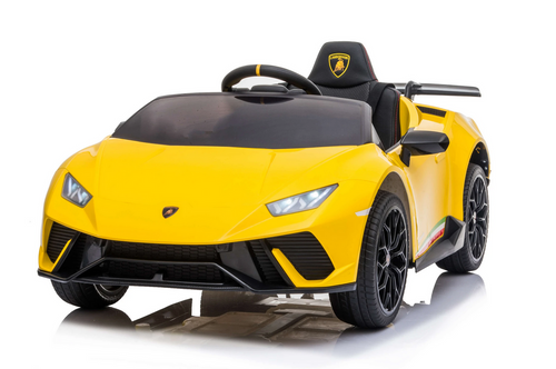 SR308 12V Lamborghini Huracán Licensed Battery Powered Kids Electric Ride On Toy Car (Yellow)