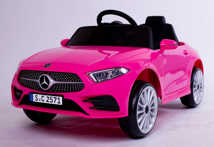 12V 4A Two Motors Mercedes Benz CLS350 Licensed Battery Powered Kids Electric Ride On Toy Car (Pink)