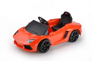 Lamborghini Aventador LP700-4 Licensed 6V Battery Powered Electric Ride on Car (Orange)