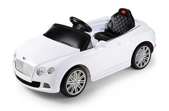 RS82100 BENTLEY WHITE Bentley GTC 12V Electric Ride On Car with Remote Control (White)