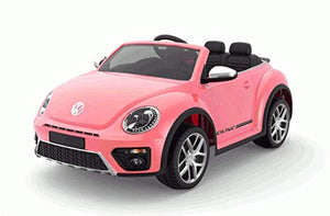 New 2019 VW Licensed Volkswagen Beetle Dune 12V Kids Electric Ride On Car Pink - LK Auto Factors