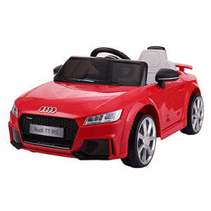 Audi TT RS Kids 12V Ride on Car Electric Battery Powered Toy Vehicle RC Remote Control, Lights MP3, Red - LK Auto Factors