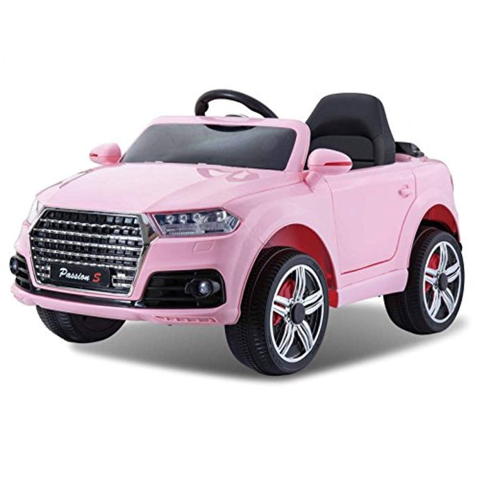AUDI Q7 Style Ride on Car 12v Pink with Parental Remote Control (With Personalised Number Plate) - LK Auto Factors