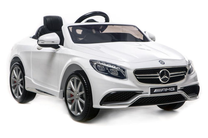 6V 7Ah Battery Twin 15W Motors Powered Mercedes-Benz 63 AMG Licensed Twin Motor Electric Ride On Toy Car (Model: HL169) WHITE - LK Auto Factors