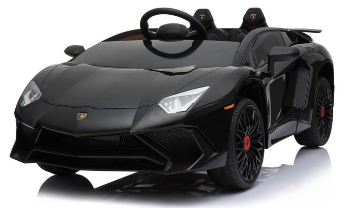 12V 7A Lamborghini Aventador SV Licensed Battery Powered Kids Electric Ride On Toy Car BDM0913 BLACK - LK Auto Factors