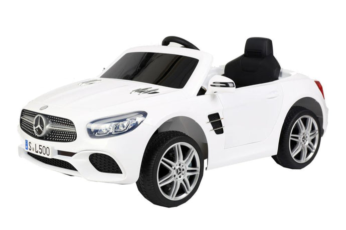 12V 7A Mercedes Benz Licenced SL500 Battery Powered Kids Electric Ride On Toy Car S301 WHITE - LK Auto Factors