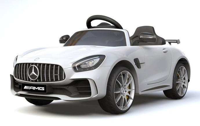 6V 4.5A Two Motors Mercedes Benz GTR AMG Licenced Battery Powered Kids Electric Ride On Toy Car HL288 WHITE - LK Auto Factors