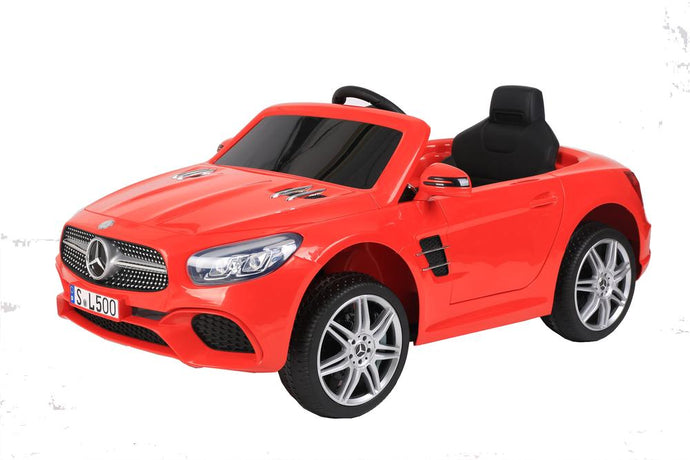12V 7A Mercedes Benz Licenced SL500 Battery Powered Kids Electric Ride On Toy Car (Model: S301) RED - LK Auto Factors