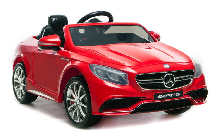 6V 7Ah Battery Twin 15W Motors Powered Mercedes-Benz 63 AMG Licensed Twin Motor Electric Ride On Toy Car (Model: HL169) RED - LK Auto Factors