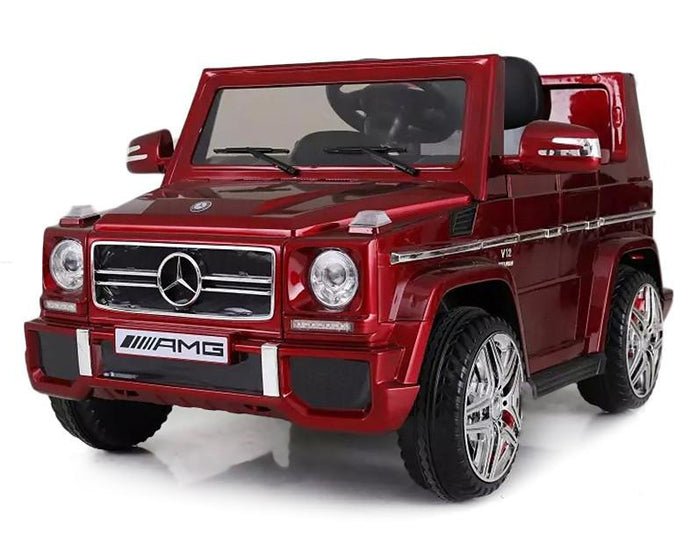 12V 7Ah Battery Powered Mercedes-Benz G65 Licensed Twin Motor Electric Ride on Toy Car (Model: LS528 ) RED - LK Auto Factors