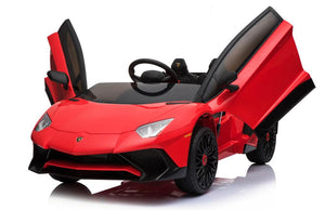 12V 7A Lamborghini Aventador SV Licensed Battery Powered Kids Electric Ride On Toy Car BDM0913 RED - LK Auto Factors