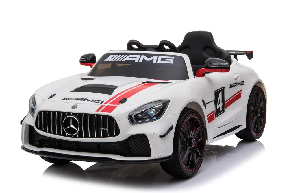 Mercedes Benz GT4 AMG SPORTS EDITION Two Motors Licenced Battery Powered Kids Electric Ride On Toy Car (Model: SX1918) WHITE - LK Auto Factors