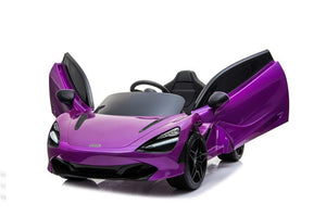 McLaren 720S Lisenced 12V Battery Powered Kids Electric Ride On Toy Car EVA Wheels Leather Seats (Model: M720S) Lantana Purple - LK Auto Factors