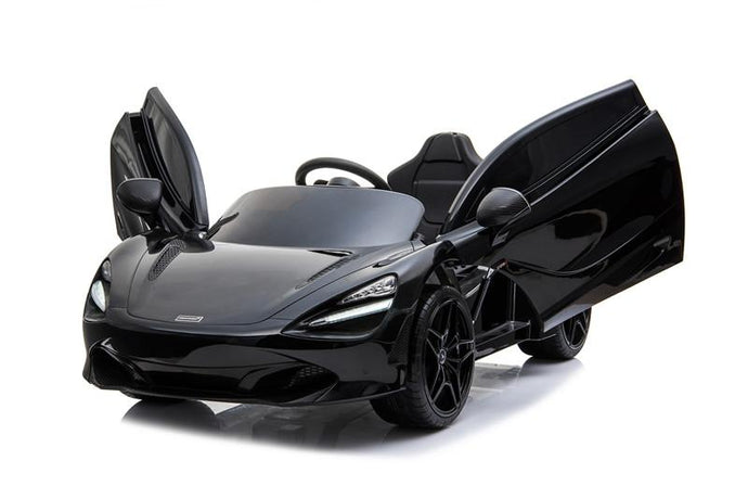 McLaren 720S Lisenced 12V Battery Powered Kids Electric Ride On Toy Car EVA Wheels Leather Seats (Model: M720S) Onyx BLACK - LK Auto Factors