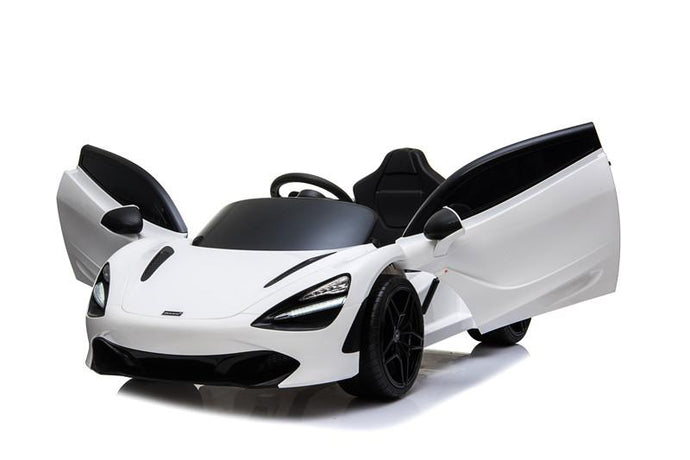 McLaren 720S Lisenced 12V Battery Powered Kids Electric Ride On Toy Car EVA Wheels Leather Seats (Model: M720S) Solica White - LK Auto Factors