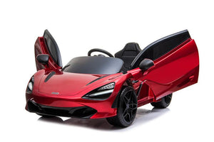 McLaren 720S Lisenced 12V Battery Powered Kids Electric Ride On Toy Car EVA Wheels Leather Seats (Model: M720S) Memphis RED - LK Auto Factors