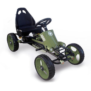 Military Style Foot Pedal Go Kart with EVA wheels ( Model: B2036) Green - LK Auto Factors