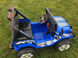 NEW 2019 KIDS 12V RAPTOR ELECTRIC RIDE ON CAR 4X4 JEEP 2-SEATER WITH REMOTE CONTROL IN  BLUE - LK Auto Factors