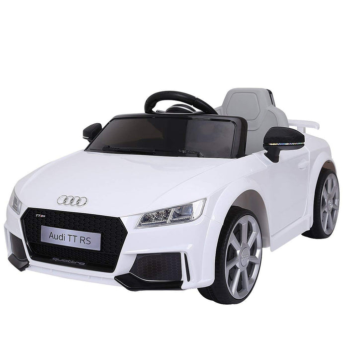 New 2018 Kids Ride On Car, Licensed 12V Audi TT RS, Remote Control Manual Two Modes Operation, MP3 Lights (White) - LK Auto Factors