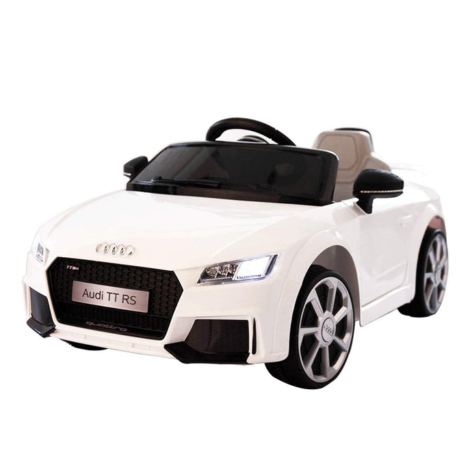 Audi TT 12V Electric Kids Ride On Car Licensed MP3, Lights RC Remote Control White - LK Auto Factors