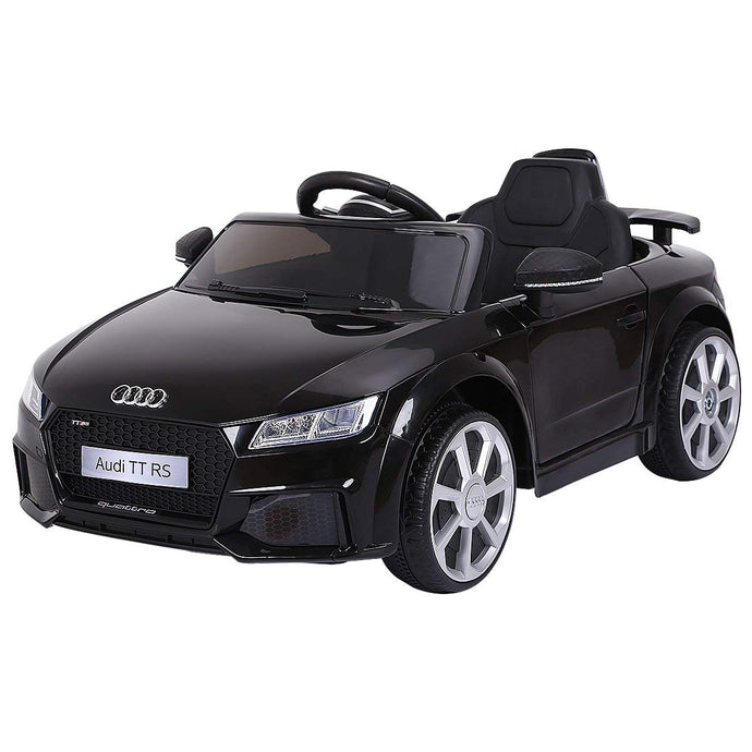 New 2019 Kids Ride On Car, Licensed 12V Audi TT RS, Remote Control Manual Two Modes Operation, MP3 Lights (Black) - LK Auto Factors