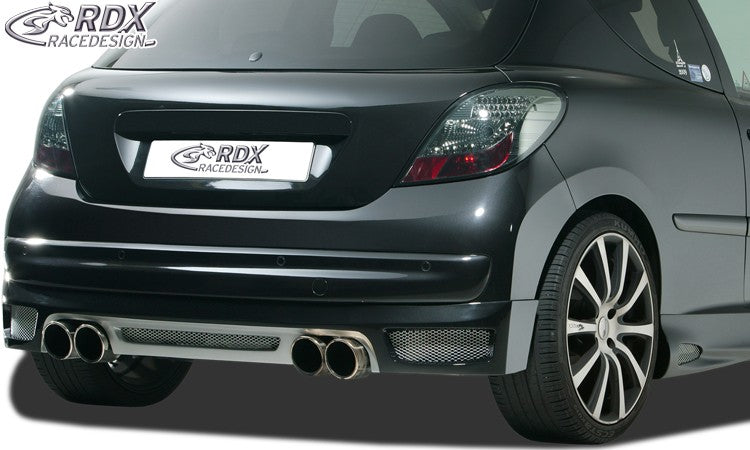 LK Performance RDX rear bumper extension PEUGEOT 207 / 207CC - LK Auto Factors