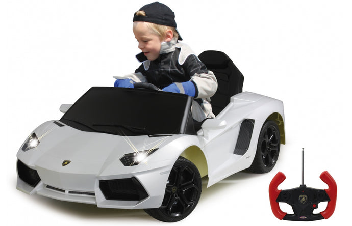 Ride-on Lamborghini Aventador white