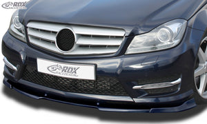 LK Performance RDX Front Spoiler VARIO-X MERCEDES C-class W204 / S204 AMG-Styling 2011+ (Fit for Cars with AMG-Styling Frontbumper) Front Lip Splitter - LK Auto Factors
