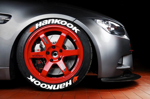 LK Performance Genuine Rubber Raised Hankook Tyre Sticker Decal Vinyl Letters - LK Auto Factors