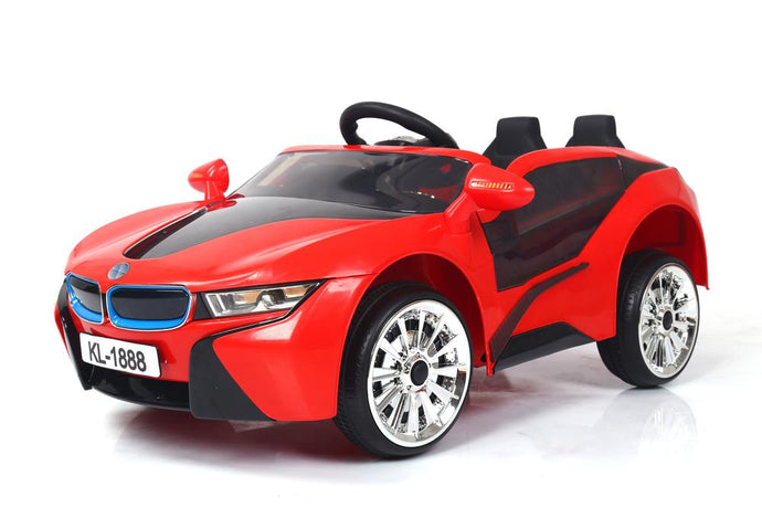 Kids 2x6V 15W TWO MOTORS Battery Powered UNBRANDED BMW i8 Style Electric Ride On Toy Car (Model: KL1888) RED - LK Auto Factors