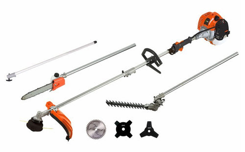 PROTOOL Garden Expert 33cc 6 in 1 Multi Function Tool Petrol Hedge Trimmer/Chainsaw/Brush Cutter/Grass Trimmer / 1m Extension Pole