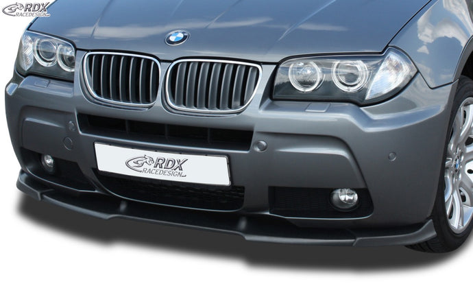 LK Performance RDX Front Spoiler VARIO-X BMW X3 E83 M-Styling 2006+ Front Lip Splitter - LK Auto Factors