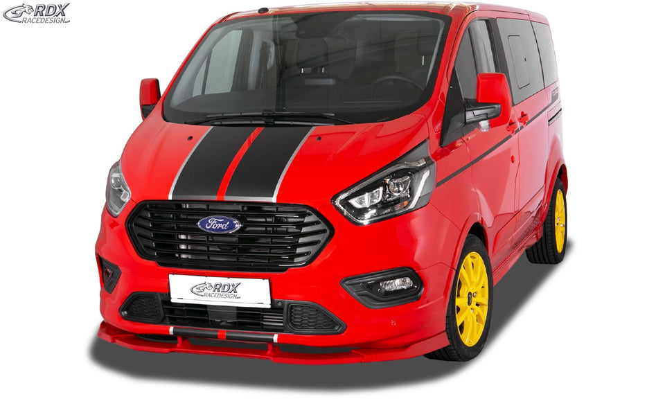 LK Performance front spoiler VARIO-X FORD Transit Custom / Tourneo Custom ST-Line 2018+ front lip front attachment front spoiler lip - LK Auto Factors