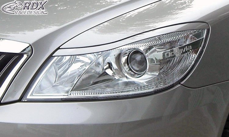 LK Performance RDX Headlight covers SKODA Octavia 2 / 1Z Facelift 2008+ - LK Auto Factors