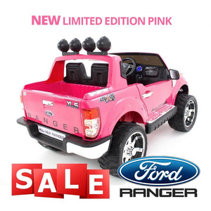 Limited Edition Pink Ford Ranger 12V Licensed Childrens Ride On - LK Auto Factors