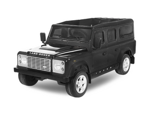Ride on 12v Electric Land Rover Defender with Parental Control Black Official Model - LK Auto Factors