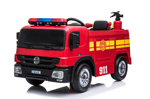 Red Electric 12v Battery Powered FIRE ENGINE Ride On Toy - LK Auto Factors
